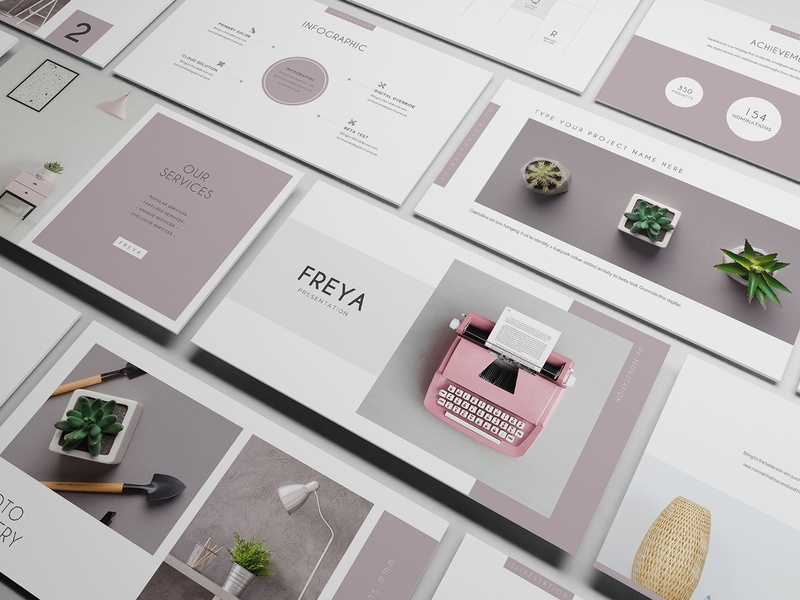 Freya PowerPoint Presentation by Templates on Dribbble