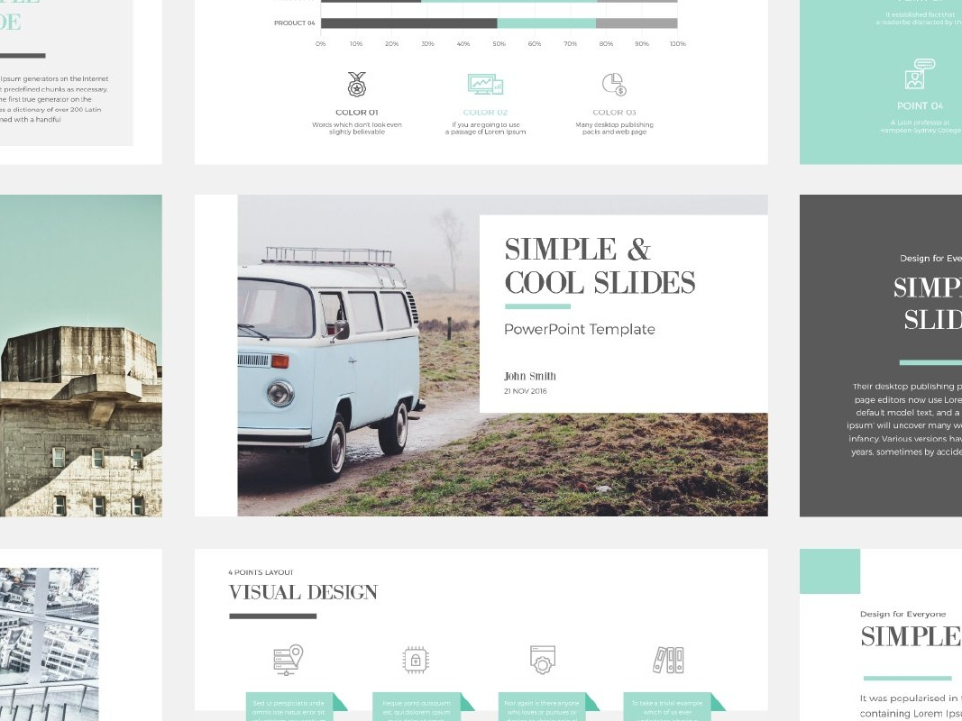 Simple & Cool PowerPoint Template by Templates on Dribbble