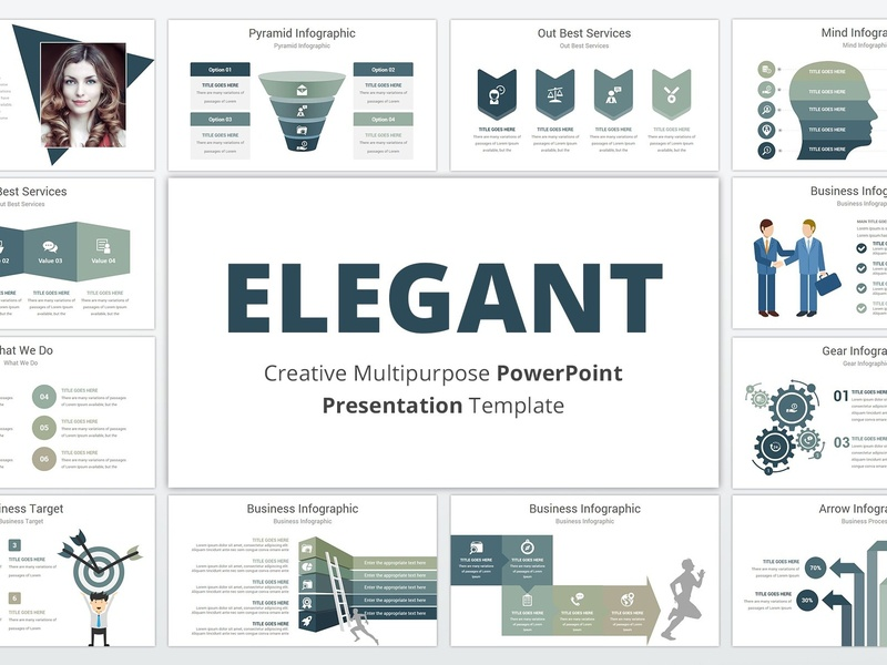 Elegant Powerpoint Template By Templates On Dribbble