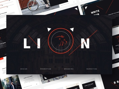 Lion - Powerpoint Template