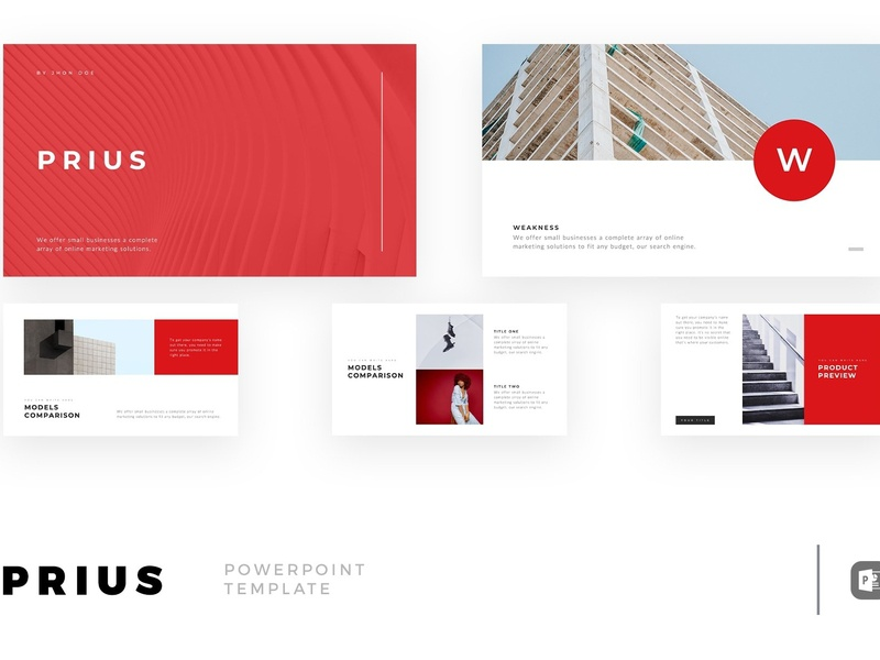 Prius Minimal Powerpoint Template By Templates On Dribbble