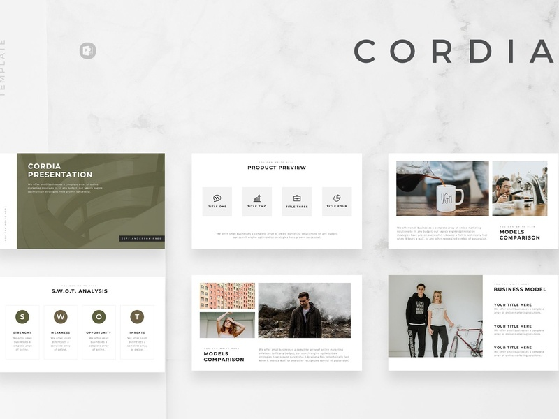 Cordia Minimal Powerpoint Template By Templates On Dribbble