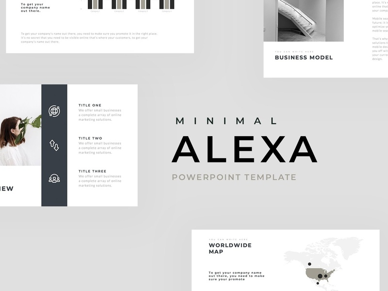 Alexa Minimal Powerpoint Template By Templates On Dribbble