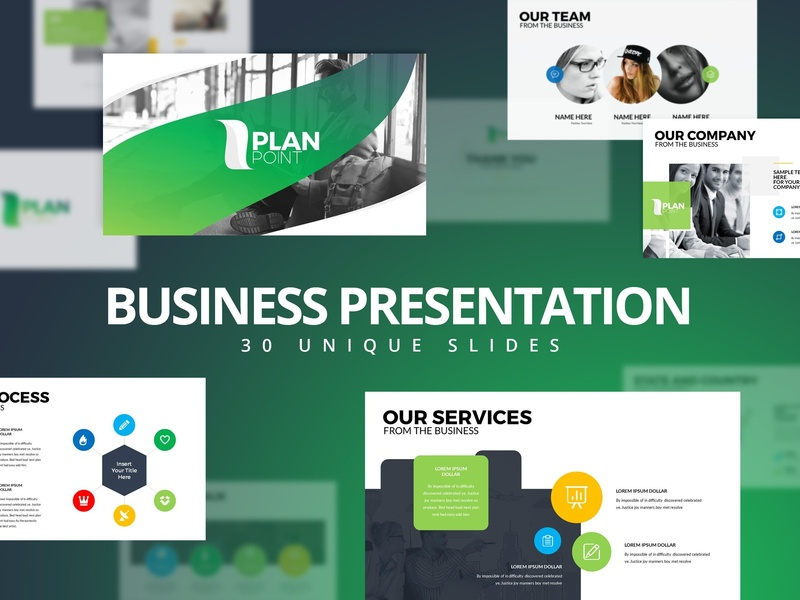 Modern Business Plan PowerPoint by Templates on Dribbble