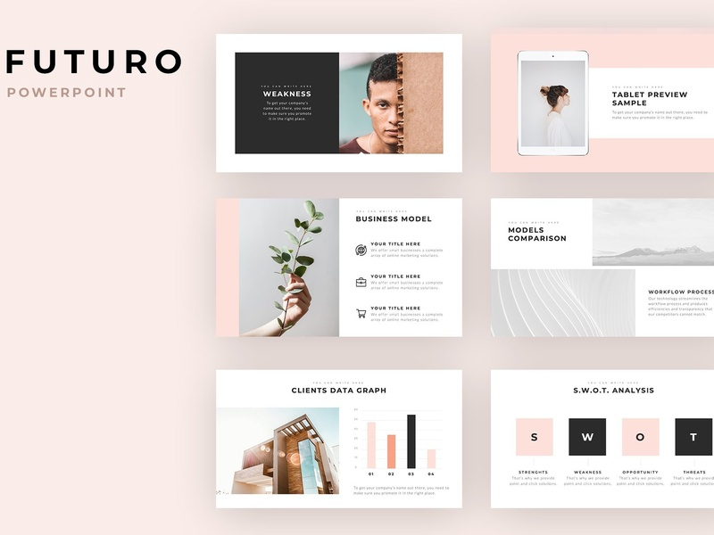 Futuro Minimal Powerpoint Template By Templates On Dribbble