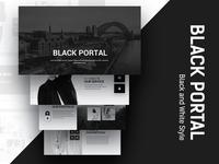 Black Portal Business Powerpoint