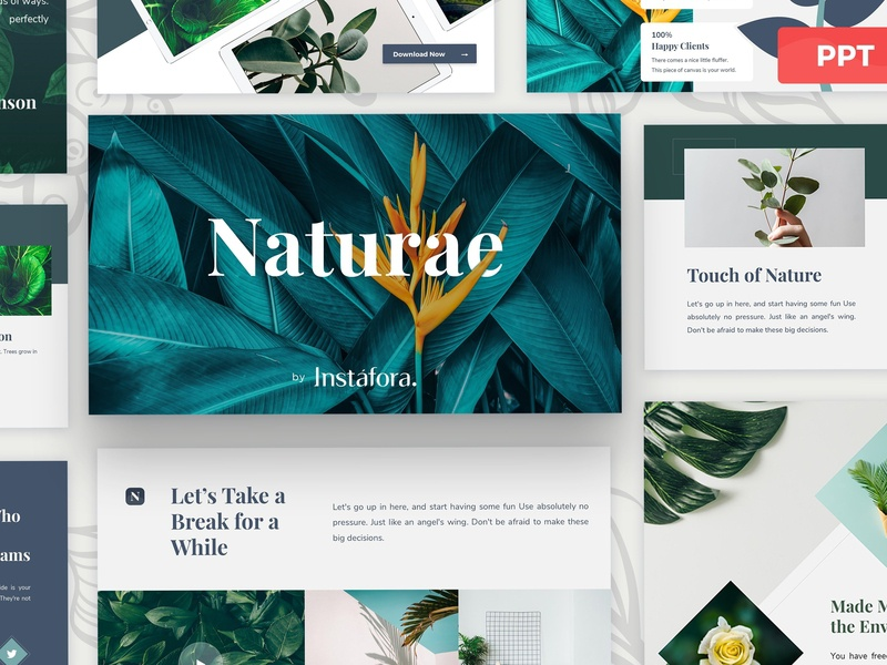 Naturae Powerpoint Presentation By Templates On Dribbble