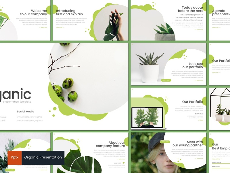 Organic - Powerpoint Template by Templates on Dribbble