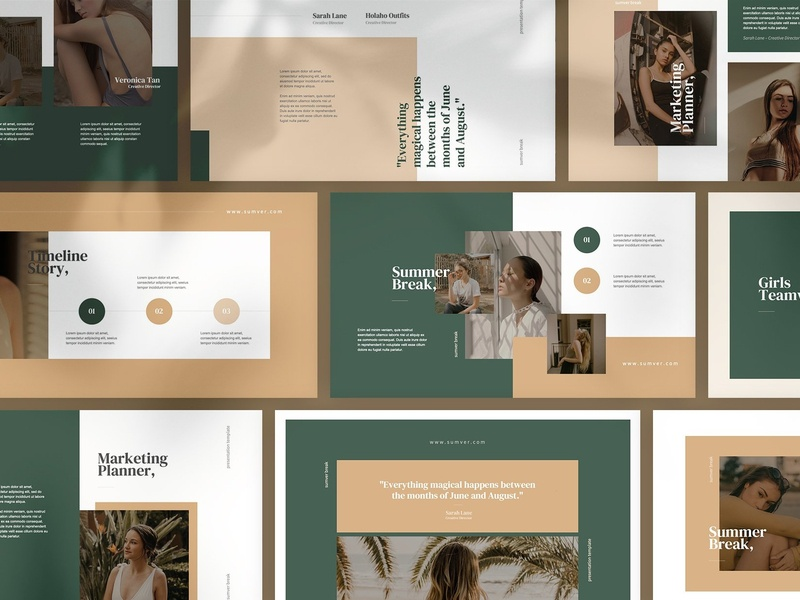 Sumver Break Powerpoint Template by Templates on Dribbble