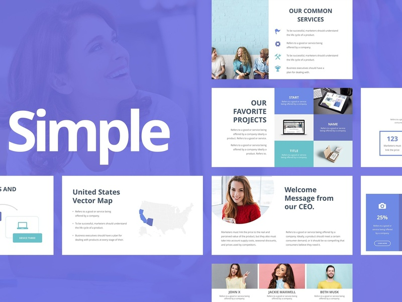 Simple Powerpoint Template By Templates On Dribbble