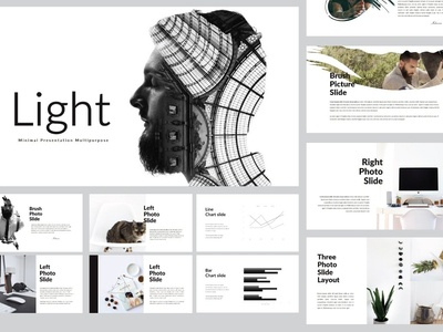 Light MNML Powerpoint Template