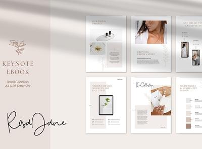 Keynote eBook Template Rosa Jane