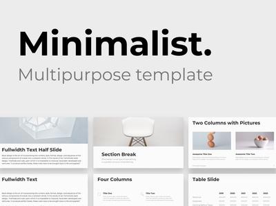 Minimalist - Multipurpose Template