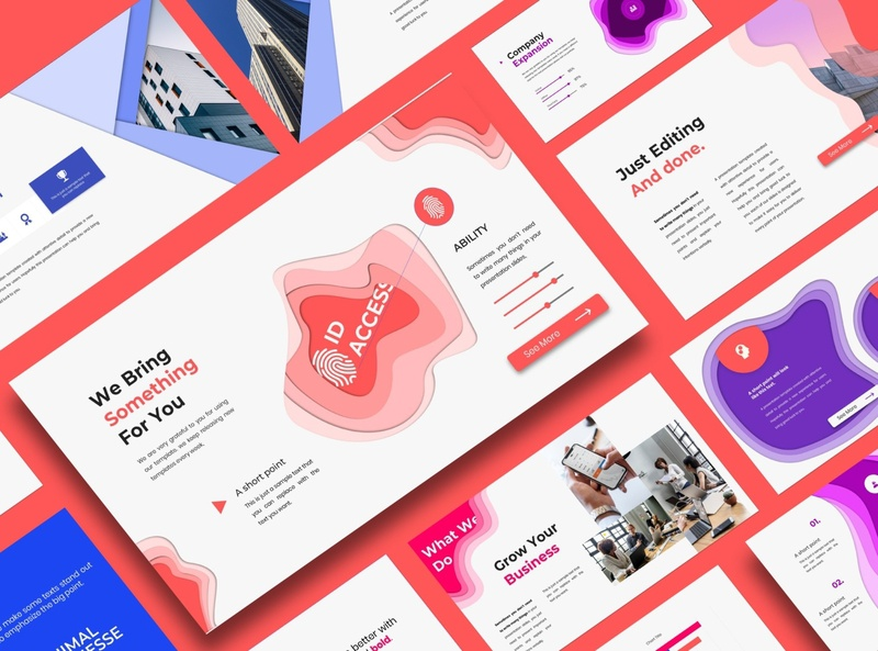 2020 Minimal Business Template colorful color website professional powerpoint elegant simple presentation creative clean modern template design templates corporate minimal business template minimal business business template template business minimal