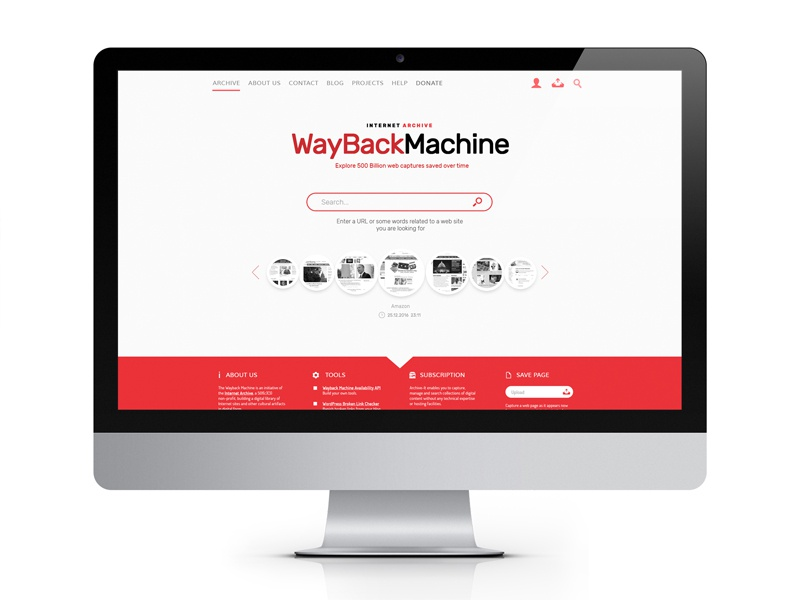 Wayback Machine Redesign Concept by Roman Bily on Dribbble