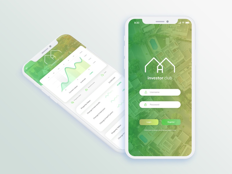 Investor Club mortgage property property management app design application-design application ios-app app