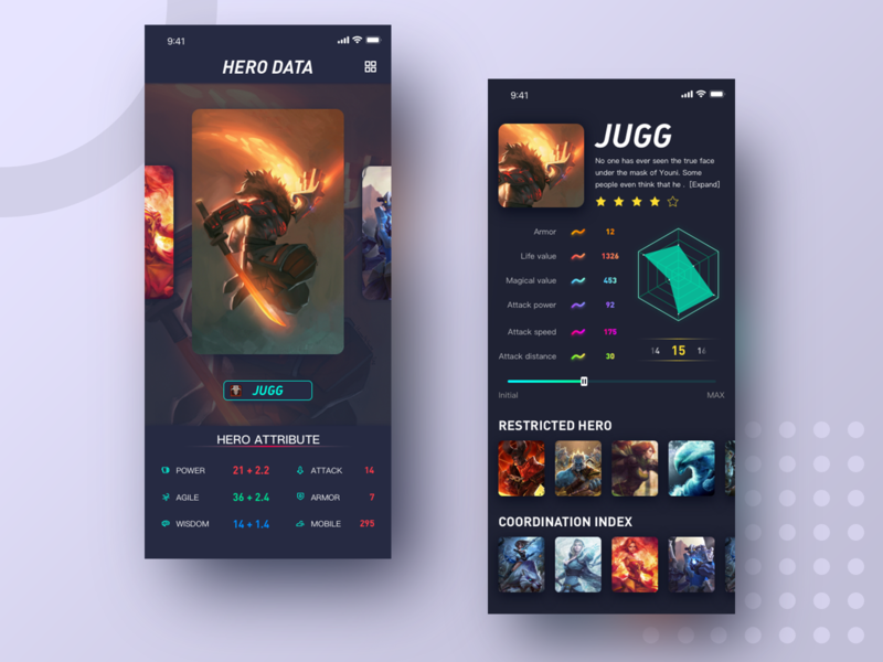 Game data interface icon app 插图 illustration design ui