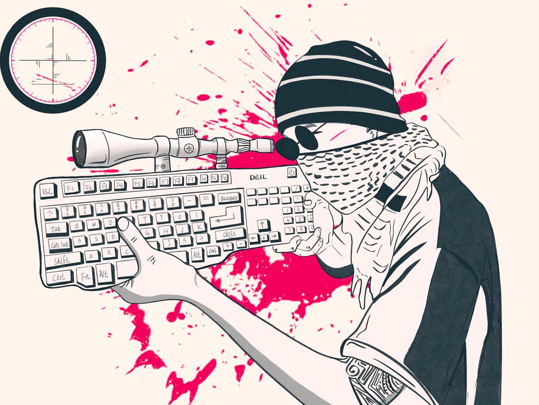 Keyboard man red keyboard 插图 设计 illustration design ui