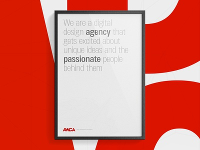 AWCA Poster poster red typo typography