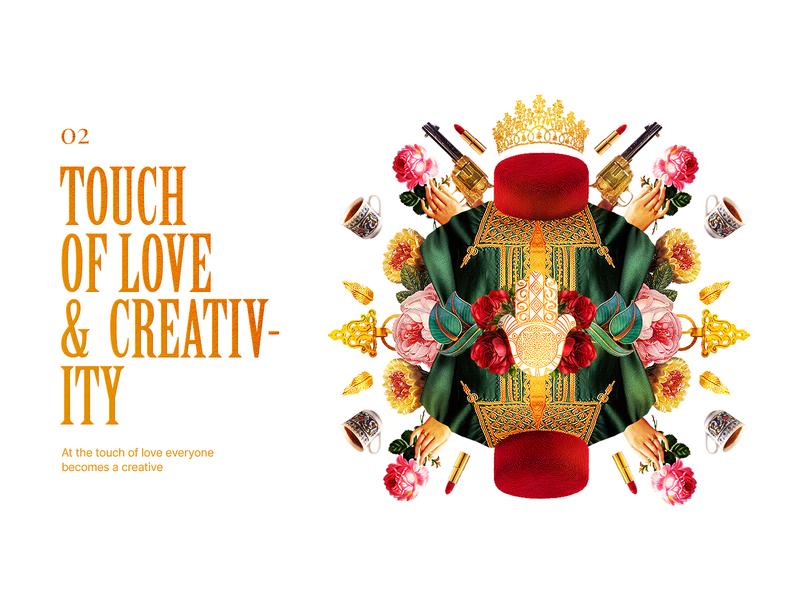TOUCH OF LOVE & CREATIVITY TN Version design tunisia love gold roses elements webdesign photoshop montage art
