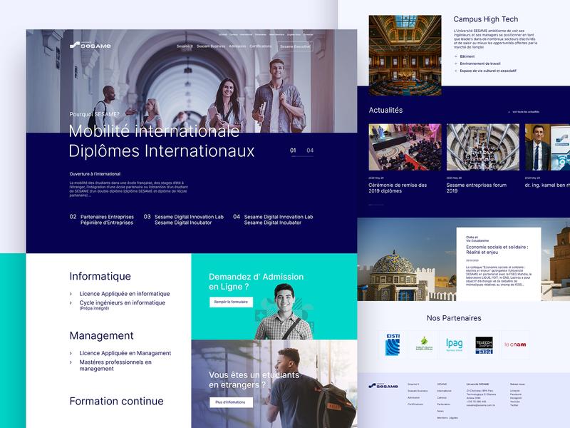 S E S A M E Website Redesign university user experience design ui web website