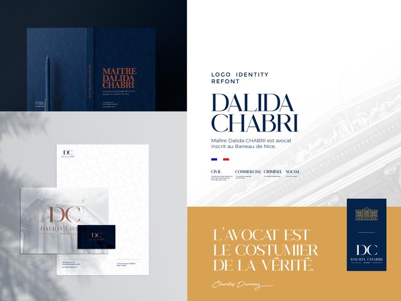 Dalida Chabri Branding clean logodesign layout avocat logo branding lawyer