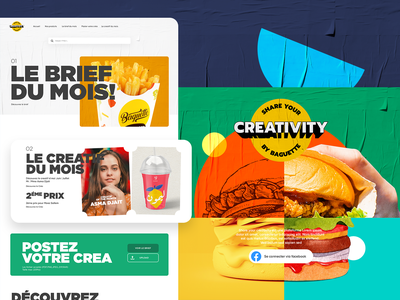 SYC By B B app website design ui creativity food burger webdesign