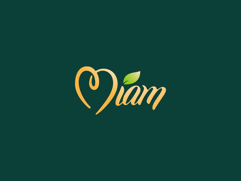 MIAM logo branding food fruit typography design logotype logo