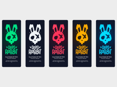 Dead Rabbit branding design remake colors vape animal rabbit rebrand vector logo