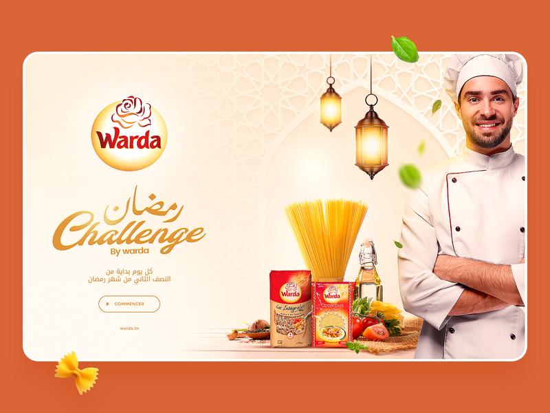 Challenge Warda app ui design challenge chef warda pasta spaghetti web uidesign ramadan game
