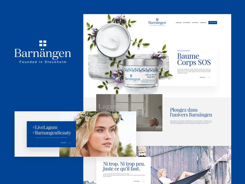 Barnängen nature cream barnängen website beauty clean user experience ui