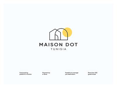 Maison Dot design branding brand dot maison logo