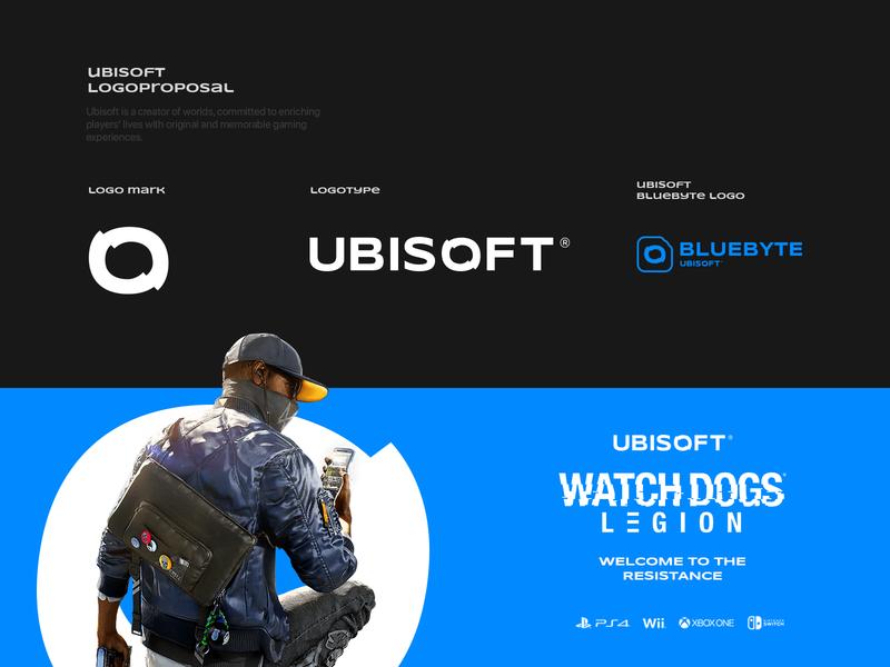 UBISOFT ( LogoProposa l) logotype logo design watchdogs design branding icon logo game ubisoft