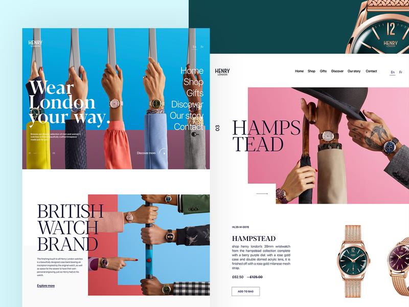 HENRY LONDON london luxury user experience color website ui clean watch