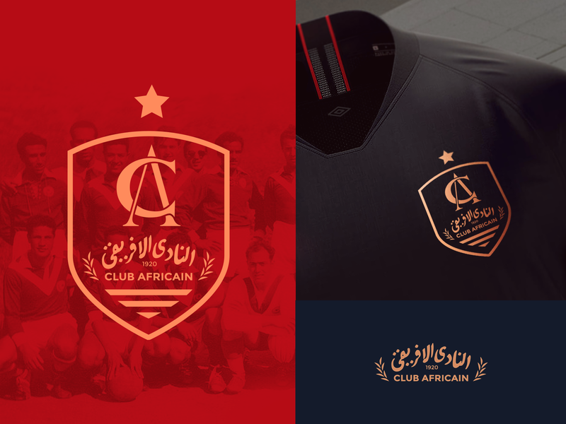 CA Proposal Logo20 design rebranding tunisia football logo soccer clubafricain