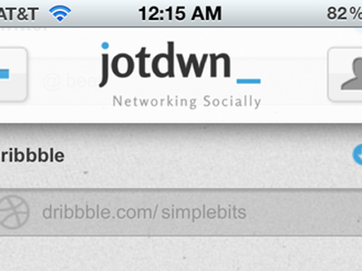jotdwn homepage updated form dribbble navigation icons mobile