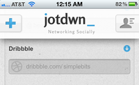 jotdwn homepage updated