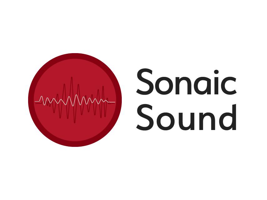 Sonaic Sound - Logo A company sound sound wave music vector design red logo