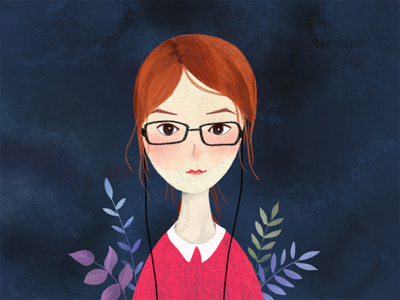 Darcy girl illustration self-portrait darcy