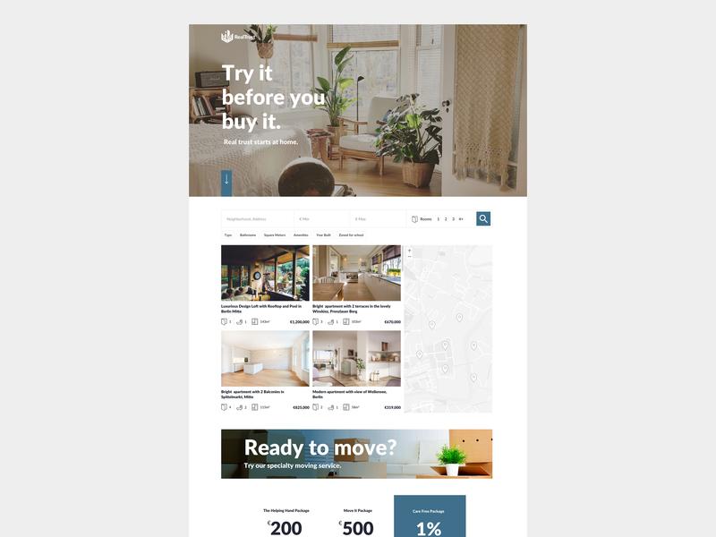 RealTrust Landing Page landing page design web design user inteface ui