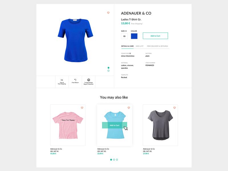 Ubup Product Detail Page design web design user inteface ui