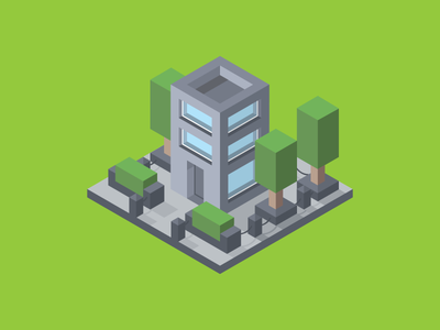 Building law business company tech cube modern enviroment green isometric design square logo geometric rectangle square blocks building blocks axonometric isometric building