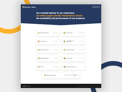 Symantec Status portfolio status page symantec
