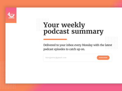 listen.coffee landingpage podcasts podcast ui