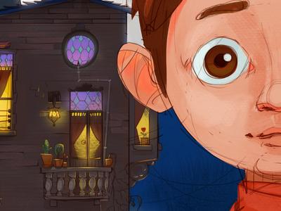 Befana childrens book illustration santa