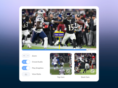 NFL From Any Angle espn web design concept product design ux ui football sports nfl