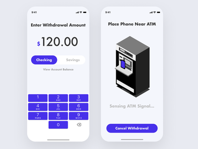No Contact ATM branding illustration typography visual design concept product design ui finacial finance fintech mobile app mobile