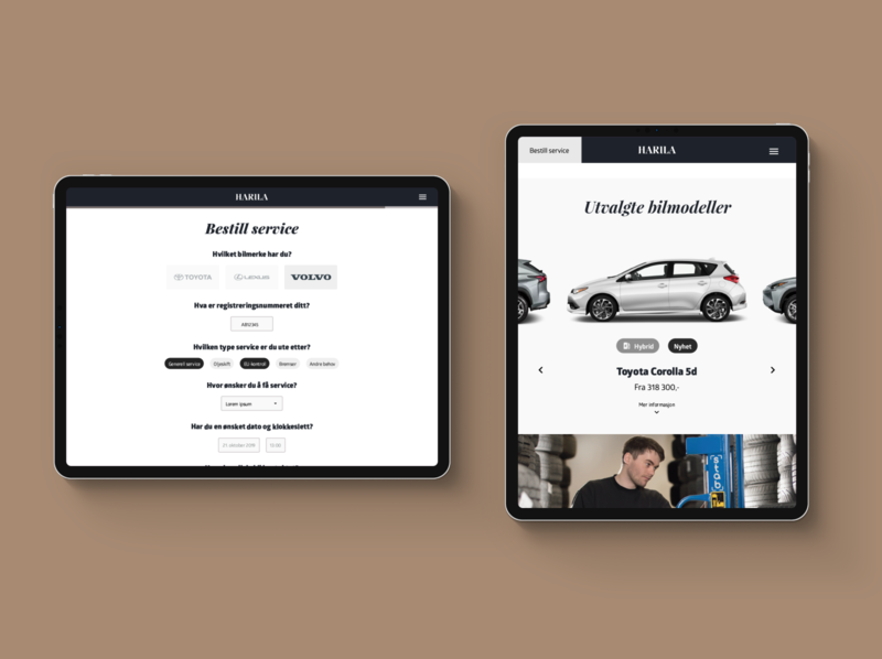 Harila – WIP norway car uiux ux web design ui