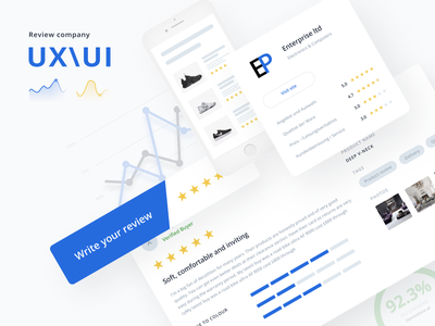Review Site & Interface Design uxui interface design review site review reviews