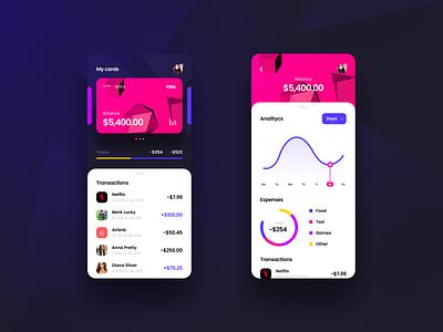 Mobile Banking business banking app uidesign ui ux applicaiton application credit card banking